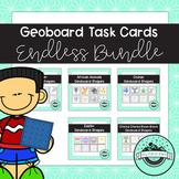 Geoboard Task Cards ENDLESS Bundle - 25 Themed Ssets Curre