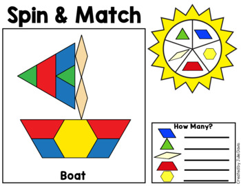 Pattern Blocks Mat Summer Math Center
