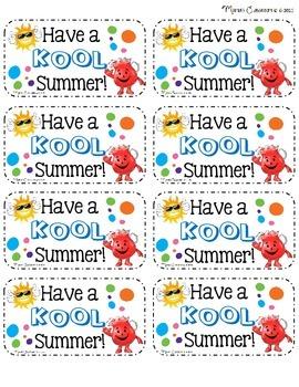 Summer Gift Bag Tags