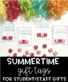 Summer Gift Tags for Students/Staff