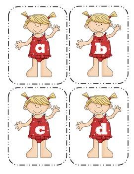 Summer Girl Lowercase Flashcards
