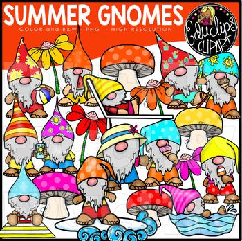 Summer Gnomes Clip Art Set {Educlips Clipart}