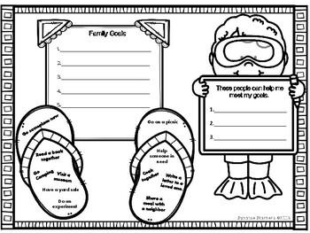Summer Goal Worksheets
