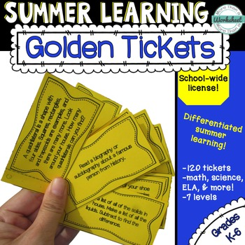 Summer Learning Golden Tickets [School-wide License]