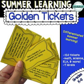 Summer Learning--Golden Tickets