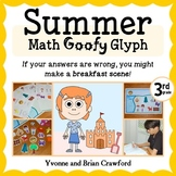 Summer Review Math Goofy Glyph (3rd Grade Common Core)