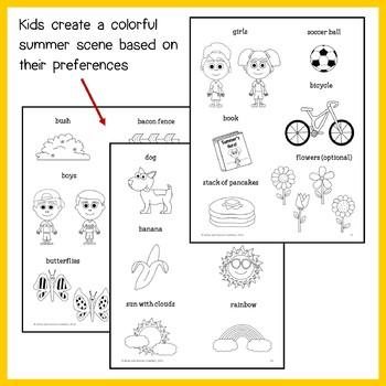 Summer Review Math Goofy Glyph (3rd Grade Common Core)