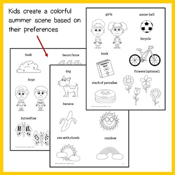 Summer Review Math Goofy Glyph (Kindergarten Common Core)