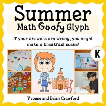 Summer Review Math Goofy Glyph (Kindergarten Common Core)