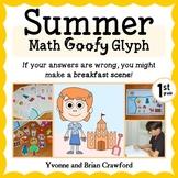 Summer Review Math Goofy Glyph (1st Grade Common Core)