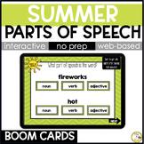 Summer Grammar BOOM CARDS: Parts of Speech