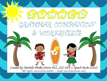 Summer Grammar Companion & Worksheets
