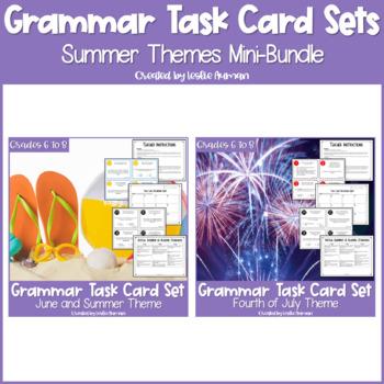 Summer Grammar Task Cards BUNDLE