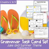 Summer Grammar Task Cards   Summer School   Grammar Review