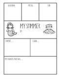 Summer Graphic Organizer