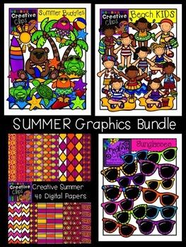 Summer Graphics Bundle {Creative Clips Digital Clipart}
