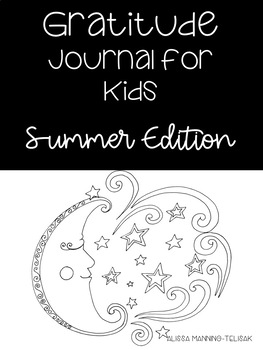 Summer Gratitude Journal for Kids