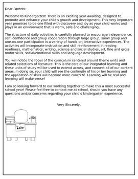 Back to School: Kindergarten Welcome Packet  {pdf version}