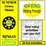 Summer Gross Motor Bingo