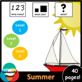 Summer HOW MANY, WHAT SIZE, WHAT? Adapted book Level 1, Le