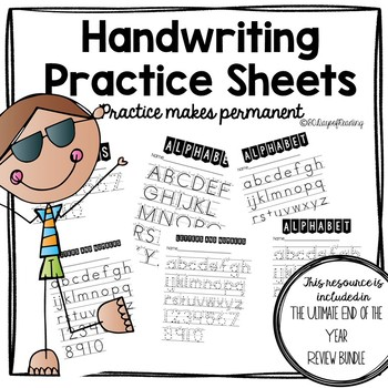 Handwriting Practice for Parents to do at home!