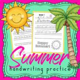 Summer Handwriting Practice - Handwriting Without Tears - Summer Break