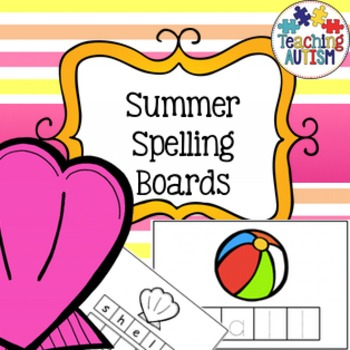 Summer Spelling and Handwriting Task Cards