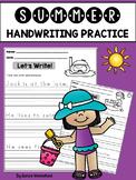 Summer Handwriting Practice (Sentences)