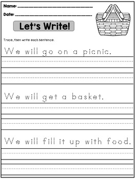 summer handwriting practice sentences by dana 39 s wonderland tpt. Black Bedroom Furniture Sets. Home Design Ideas