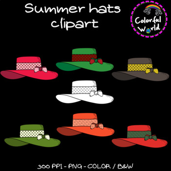 Summer - Hats clipart