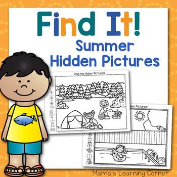 Summer Hidden Picture Worksheets