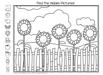 Summer Hidden Picture Worksheets By Mama S Learning Corner Tpt