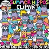 Summer Hippos Clipart {Summer Clipart}