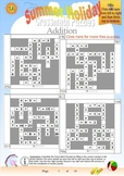 Summer Holiday Fun Puzzles - Math Puzzle Worksheets - Free Printables