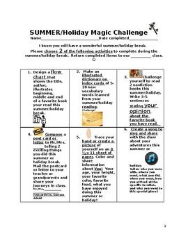Summer Holiday Magic Challenge