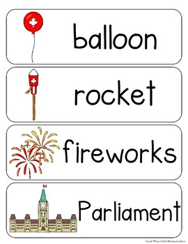Summer Holiday Vocabulary Word Wall Cards plus Write and Wipe Version