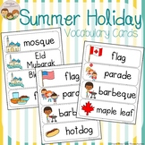 Summer Holiday Vocabulary Word Wall Cards plus Write and W