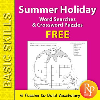 Summer Holiday Word Search & Crossword Puzzles {Freebie}