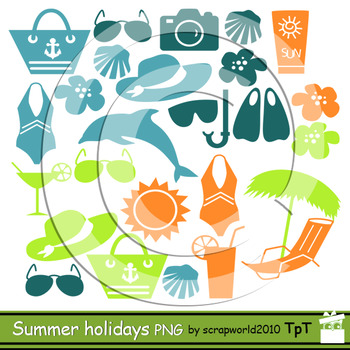 Summer Holidays clipart silhuette clipart-commercial use ok