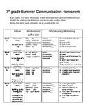 Summer Homework: 7th grade science vocabulary
