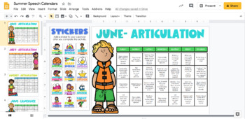 Homework Calendars For Speech {Articulation, Language & Fluency}