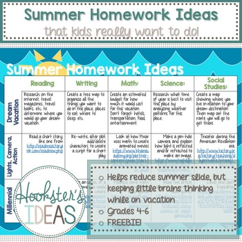 Summer Homework Ideas That Kids Really Want to Do!