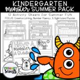Summer Homework Monster Pack, Kindergarten