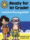 Summer Homework Pack for Rising First Graders (who have completed Kindergarten)