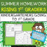 Summer Homework for Rising 1st Graders (Kindergarten going to 1st Grade)