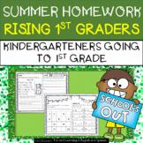 Summer Homework for Rising 1st Graders (Kindergarten going to 1st Grade)