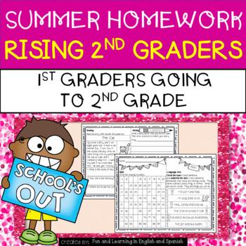 Summer Homework for Rising 2nd Graders (1st Graders going