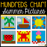 Summer Hundreds Chart Mystery Pictures - Fun Math Activity