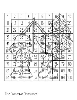 Summer Hundreds Chart Puzzles- Number Sense Activities on 100s Chart!