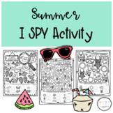 Summer I SPY Activity Sheets